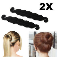 2PCS Magic Sponge Clip Foam Donut Hair Styling Bun Curler Tool Maker Ring Twist