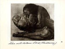 Die deutsche Künstlerin Käthe Kollwitz Frau mit totem Kind / Frau im Hemd 1930