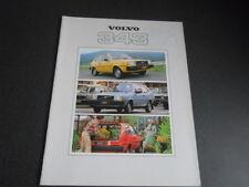 VOLVO 343 brochure catalogue documentation - année modèle 1979