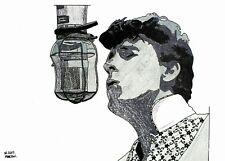 Gene Vincent hand-drawn A4 size original drawing (not a print)