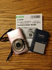 Canon PowerShot Digital ELPH SD1100 IS 8.0MP Digital Camera Pink, 2 Batteries