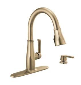 Delta 19875Z-CZSD-DST Owendale 1-Handle PullDown Kitchen Faucet Champagne Bronze