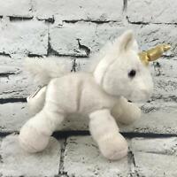 Aurora Unicorn Plush Off-White Cream Small Stuffed Animal Soft Toy