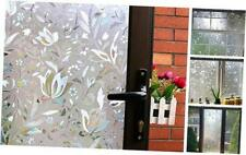 Mikomer Tulip Decorative Window Film,No Glue Frosted Privacy 17.5 by 78.7-inch