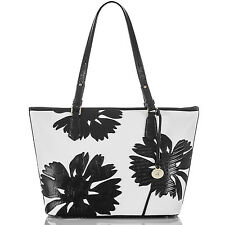 Brahmin Medium Asher Leather Tote Satchel (White Encelia)