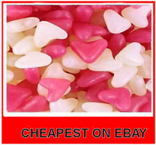 BARRATT PINK AND WHITE LOVE HEARTS JELLY BEAN SWEETS WEDDING FAVOURS  1kilo