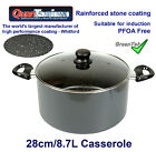 Non-Stick Casserole 28cm/8.7L✪Branded Stone coating✪Induction✪Stock Pot✪Cookware
