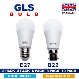 LED GLOBE Light Bulb GLS B22 E27 A60 Energy Saving Warm Cool Day White Shape A+