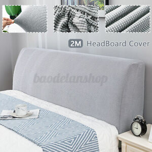 2m Bed Headboard Slipcover Stretch Bedside Cover Soft Dustproof Protector  C