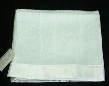 Churchill Weavers Handwoven Blue Chenille Baby Blanket Satin Trim Cotton Rayon