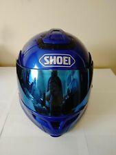 Shoei Multitec Helmet Flip Up Full Face Motorcycle XXL Used Blue