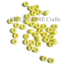 Yellow Pearl Color 9x6mm Pony Beads 500pc Made in USA