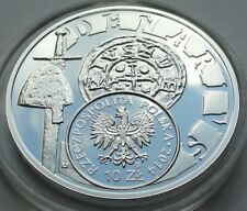 2014 Poland Polen 10 zl zlotych Silver 925 Boleslaw the Wry-Mouthed – denarius