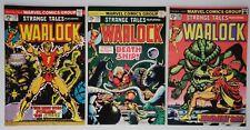 3) 1975 Marvel Comics Book Strange Tales #178-180 Warlock 1st Magus Pip Gamora