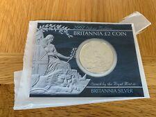 2007 Britannia 1oz Silver £2 coin in Card Holder