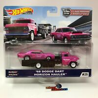 '68 Dodge Dart & Horizon Hauler * 2020 Hot Wheels Team Transport Case J