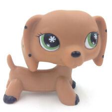 LPS Littlest Pet Shop Toys Yellow Dachshund Dog Puppy Tan Snow Green Eyes Gift
