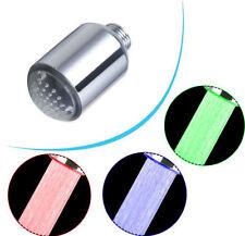 e-pak Brass 3 Color LED Light Water Shower Spraying Head Faucet