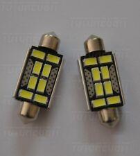 COPPIA SILURI 5730 42MM 8 LED CANBUS C5W C10W T11 COLORE BIANCO OTTIMA QUALITA'