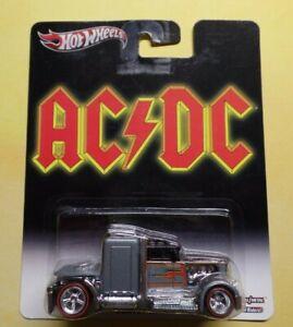 HOT WHEELS 2013 POP CULTURE AC/DC CONVOY CUSTOM HTF **ERROR** MISSING DECAL