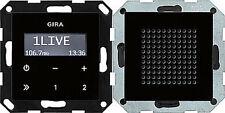 228005 Gira Unterputz-Radio RDS mit Lautsprecher Schwarzglasoptik
