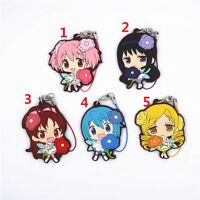Puella Magi Madoka Magica Anime Figure Rubber Strap Charm Keychain Wedding Dress
