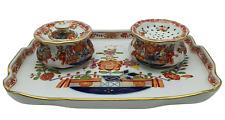Meissen Schreib Set Tintenzeug Tischchenmuster ab 1774 und 1815 4teilig Goldrand