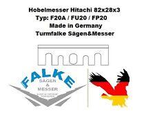 "6 Hobelmesser Hitachi 82x28x3 Typ: F20A / FU20 / FP20 3-1/4"" x 1-7/64"" x 1/8"""