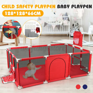 190CM Baby Playpen Exercise Cage Fence Safety Game Gate Play Mat 12 Panels AU