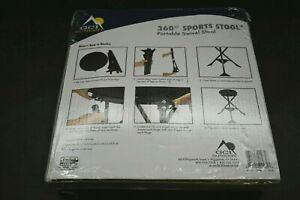 GCI Outdoor 360 Degree Sports Swivel Stool Portable Games Hunting Travel Black
