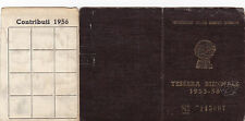 TESSERA C.I.S.L. 1955-56 UNIONE SINDACALE DI SAVONA    19-85