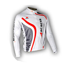 New Mens Cycling Jersey Riding Tops Long Sleeve Bike Bicycle Shirt Gray Size 3XL