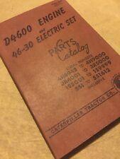 Cat Caterpillar D4600 Engine Diesel Electric Set Parts Book Manual 1s 5s 4h 3r