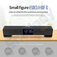 LCD Wireless Bluetooth Subwoofer Super Bass Stereo Speaker FM Alarm Clock AUX TF