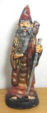 Vintage Wizard Sculpture Hand Painted Huntington Crafts 85 Ceramic Crystal Ball