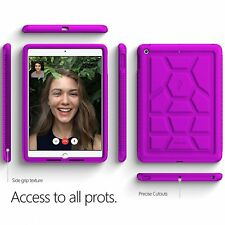 For iPad 9.7 Rugged Case Poetic TurtleSkin Silicone Shockproof TPU Cover Purple