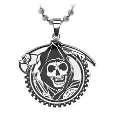 Sons of Anarchy Grim Reaper Gunsickle Gear Pendant Necklace