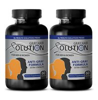 Healthier Hair Pills - Anti Gray Hair Solution 1500mg - Grey Hair Vitamins 2B