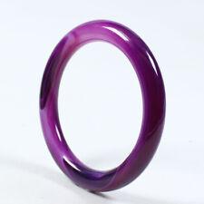 Purple Jade Bracelet Bangle Z925 65.5mm Natural Grade Agate Chalcedony Lavender