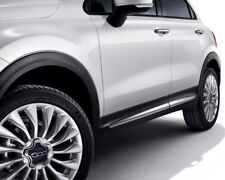 Fiat 500X White Side Door Outer Trims New + Genuine 50927456