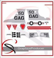 Suzuki Gsxr 50 Gag Bomber Decals Stickers Reproduction Full Set Design
