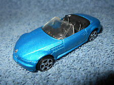 "MAISTO BMW Z3 CONVERTIBLE BLUE 1:64 DIECAST 3"" CAR - NICE"