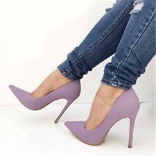 Women Stilettos High Heels Pumps Shoes Pointy Toe Suede Sandals Party Shoes uk10