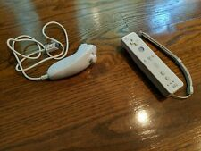 Used White Wii Remote and Nunchuk Controller