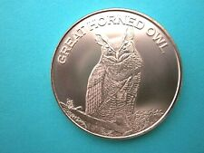 Great Horned Owl  1 oz  Copper Round - NEW COIN