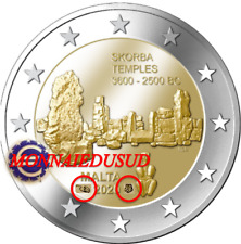 2 Euro Commémorative Malte 2020 BU Temple avec Poincon Cornucopia