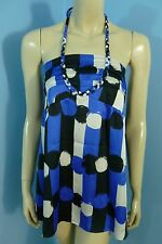 Miss Me Multi-color Hater Sleeveless Top Blouse Woman Size L