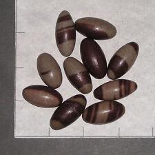 """SHIVA LINGAM, Tan med 10 pk bulk stones Narmada River India Hindu 1-1 1/4"""" long"""