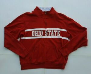 Pink Victoria Secret womens Ohio State University red Sweatshirt mock neck Small