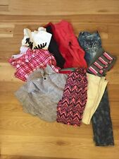 lot of 9 girls clothes size 10/12, Pjs, Jeans, Sweater Shirt, Tights, Leggings